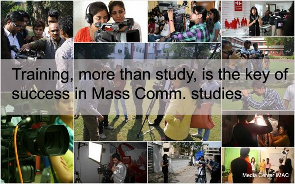 Training, more than study, is the key of success in mass communication studies